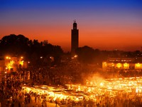 Марокко. Марракеш. The Djemma el fna square in Marrakesh. Фото Janos Posztos - Depositphotos