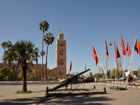 Марокко. Марракеш. Koutoubia Mosque in Marrakech, Morocco. Фото Philip Lange - Depositphotos