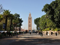 Марокко. Марракеш. Koutoubia Mosque in Marrakesh, Morocco. Фото Philip Lange - Depositphotos
