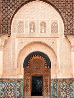 Марокко. Марракеш. Entrance door decoration in Marrakech, Morocco. Фото Ionut David - Depositphotos