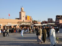 Марокко. Марракеш. Джемма эль Фна. Djemaa el Fna square in Marrakesh. Фото Philip Lange - Depositphotos
