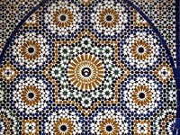 Марокко. Марракеш. Дворец Бахия. Morocco, mosaic detail of an old palace in Marrakesh. Фото Philippe Halle - Depositphotos