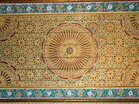 Марокко. Марракеш. Дворец БахияOrnate moroccan ceiling background. Фото Roberto Marinello - Depositphotos