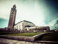 Марокко. Касабланка. Мечеть Хасана II. The Mosque of Hassan II in Casablanca, Africa. Фото Mariusz Prusaczyk - Depositphotos