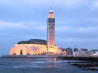 Марокко. Касабланка. Мечеть Хасана II. Great Mosque Hassan II in Casablanca, Morocco, North Africa. Фото Philip Lange - Depositphotos