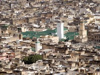 Марокко. Фес. Aerial View of Big Mosque in Fes, Morocco, Africa. Фото Premysl Morgan Vacek  - Depositphotos