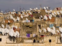 Марокко. Фес. Satellites on the roofs of an ancient city of Fes. Фото synovec - Depositphotos