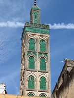 Марокко. Фес. Minaret of Mosque Sidi Ahmed Tijani. Фото alessandro0770 - Depositphotos