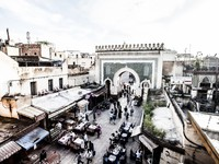 Марокко. Фес. Bab Bou Jeloud gate (The Blue Gate) located at Fez, Morocco. Фото Mariusz Prusaczyk - Depositphotos