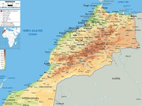 Morocco. Physical map