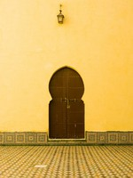 Door in the mausoleum of Moulay Ismail at Meknes, Morocco. Фото Janos Posztos - Depositphotos