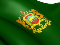 Марокко. Royal Standard of Morocco. Фото yuiyui -  Depositphotos
