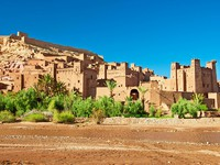 Марокко. The clay city in the north of Africa, Morocco. Фото seqoya - Depositphotos