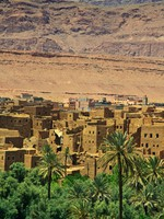 Марокко. Village among Moroccan hills. Фото yoka66 - Depositphotos