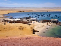 Small bay in Paracas, Peru. Фото Jacek Kadaj - Depositphotos