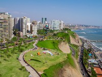 Aerial shot of Lima city, Peru. Фото Pablo Hidalgo - Depositphotos