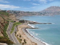 Shot of the Green Coast beach, in Miraflores, Lima-Peru. Фото designfgb - Depositphotos