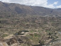 Two lakes in Colca canyon, Andes, Peru. Фото Igor tkachev - Depositphotos