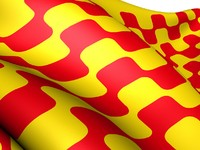 Испания. Каталония.  Flag of Tarragona city, Spain. Фото yuiyui - Depositphotos