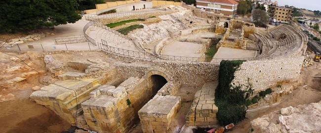 Испания. Каталония. Roman amphitheater in Tarragona, Spain, wide angle view. Фото Andreas Altenburger - Depositphotos