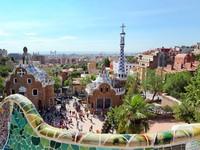 Испания. Барселона. Парк Гуэль (арх. А.Гауди). The famous Park Guell. Фото Vladitto - Depositphotos