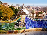 Испания. Барселона. Парк Гуэль (арх. А.Гауди). Barcelona Park Guell of Gaudi modernism. Фото TONO BALAGUER SL - Depositphotos