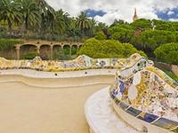 Испания. Барселона. Парк Гуэль (арх. А.Гауди). Park Guell in Barcelona. Фото Ingrid Prats - Depositphotos
