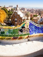 Испания. Барселона. Парк Гуэль (арх. А.Гауди). Barcelona Park Guell of Gaudi modernism. Фото lunamarina - Depositphotos
