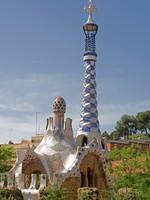 Испания. Барселона. Парк Гуэль (арх. А.Гауди). Antonio Gaudi Parc Guell, Barcelona. Фото Pere Sanz - Depositphotos