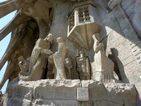 Испания. Барселона. Sculptures of the Sagrada familia church, Barcelona, Spain. Фото Elena Duvernay - Depositphotos