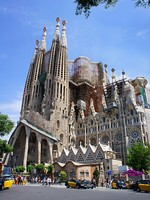 Испания.Барселона.Собор Святого Семейства (арх. А.Гауди).La Sagrada Familia in Barcelona,Spain. Фото marina99 - Depositphotos