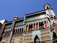 Испания. Барселона. Famous Casa Vicens designed by Antoni Gaudi. Landmark in Barcelona, Spain. Фото tupungato - Depositphotos
