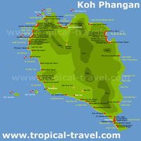 Клуб путешествий Павла Аксенова. Таиланд. О. Пханган. Koh Phangan. Thailand. Map Hotels