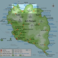 Клуб путешествий Павла Аксенова. Таиланд. О. Пханган. Koh Phangan. Thailand. Map