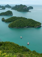 These tropical islands are Archipelago of Ang Thong - National Marine Park. Фото ggaallaa - Depositphotos