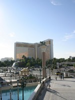 View of the Mirage Casino Hotel and Resort in Las Vegas