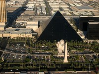 Luxor Las Vegas is an Egyptian themed hotel and casino on the famous Las Vegas Strip. Luxor opened in 1993 and features this pyramid shaped hotel building