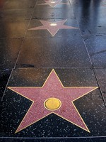 Los Angeles. Hollywood walk of fame. Blank stars. Фото archana bhartia - Depositphotos