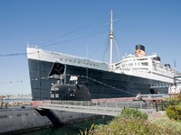 Long Beach, California. The Queen Mary. Фото byggarn79 - Depositphotos