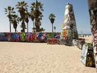 Art walls on Venice beach, Los Angeles, California, USA. Фото Eric Isselee - Depositphotos