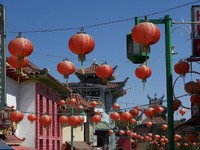 Los Angeles. Chinese Lanterns hanging in Chinatown. Фото Gabriel Schroer - Depositphotos