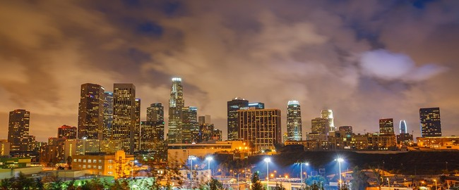 Downtown of Los Angeles at night. Фото Sergey Borisov - Depositphotos