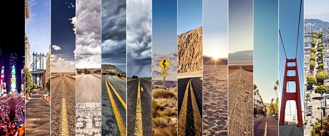 Los Angeles. From New York To San Francisco. Road collage. Фото Andrey Bayda - Depositphotos