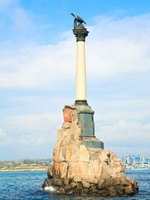 Крым. Monument to the Scuttled Ships (Crimea). Фото wildman - Depositphotos