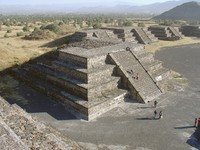 Mexico. Teotihuacan. Small pyramid