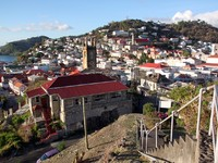 Гренада. View from the hill on the Saint George in Grenada. Фото Валерий Шанин - Depositphotos