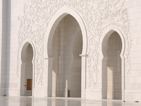 ОАЭ. Абу-Даби. Мечеть шейха Зайда. Detail of Sheikh Zayed Mosque in Abu Dhabi. Фото philipus - Depositphotos