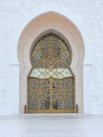 ОАЭ. Абу-Даби. Мечеть шейха Зайда. Door at Sheikh Zayed Mosque in Abu Dhabi. Фото Philip Lange - Depositphotos