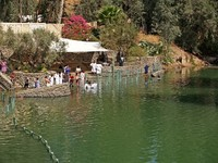 Israel Place for ablution in holy waters of the Jordan River - Yordanit. Фото vodolej Depositphoto