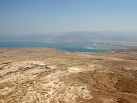 Израиль. A westward view of the Dead Sea, Israel as seen from Masada National Park. Фото Steven Frame - Depositphotos